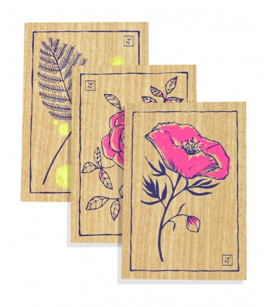 AU JARDIN - Lot 3 cartes A6