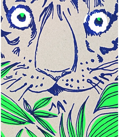 EYES OF TIGER - Affiche A3