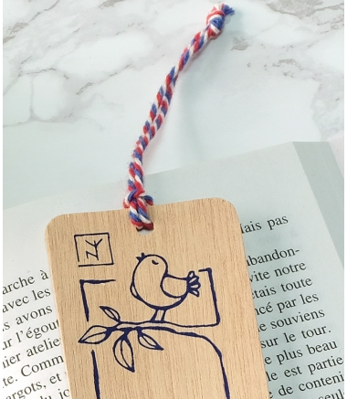 CHAT + OISEAU - Marque-page