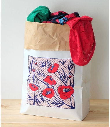 ROUGE COQUELICOT - Paper Bag