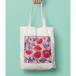 ROUGE COQUELICOT - Tote bag
